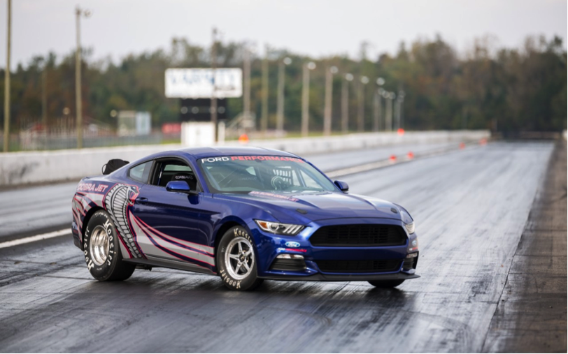 The Ford Mustang Cobra Jet is a limited-edition race-ready opening machine.