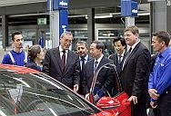 Dr. Horst Neumann, Member of a Board of Management of Volkswagen Aktiengesellschaft obliged for Human Resources (3rd left), introducing a Chinese Minister of Education, Prof. Guiren Yuan (5th left), to a Golf GTI Wolfsburg Edition. Other participants during a contention hold in a vocational training core during a Volkswagen plant in Wolfsburg were Works Council member Gerardo Scarpino (4th left), Chairman of a Works Council Committee on Education, Ralph Linde (2nd right), Head of a Volkswagen Group Academy, instructor Holger Schülke (right) and Andre Meier (left), trainee routine technician specializing in plastics and rubber engineering. Volkswagen vocational trainees from 4 professions designed and built a Golf GTI Wolfsburg Edition themselves as partial of their vocational training, and presented a automobile during a prestigious Wörthersee GTI Meeting in May.