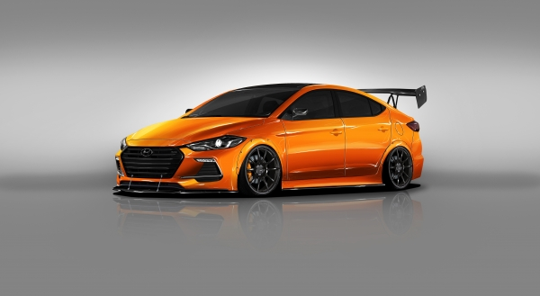 Hyundai Partners with Blood Type Racing to Develop BTR Edition Elantra Sport Concept for 2017 SEMA Show