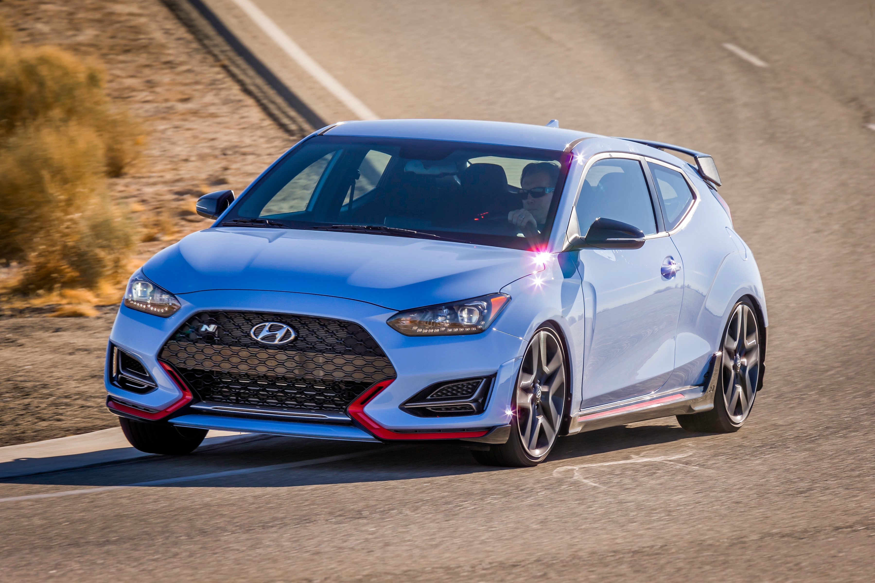 Hyundai Introduces 2019 Veloster N, First U.S. Market N-Brand High-Performance Model, at Thunderhill Raceway