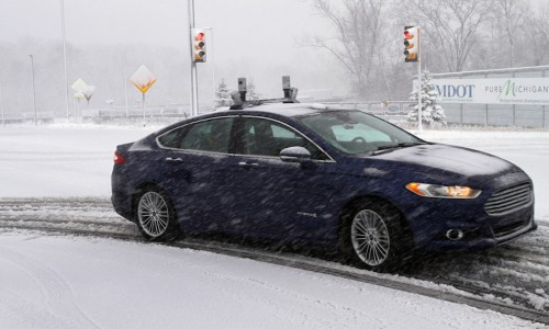 To navigate snowy roads, Ford unconstrained vehicles are versed with high-resolution 3D maps – finish with information about a highway and what's above it, including highway markings, signs, geography, landmarks and topography.