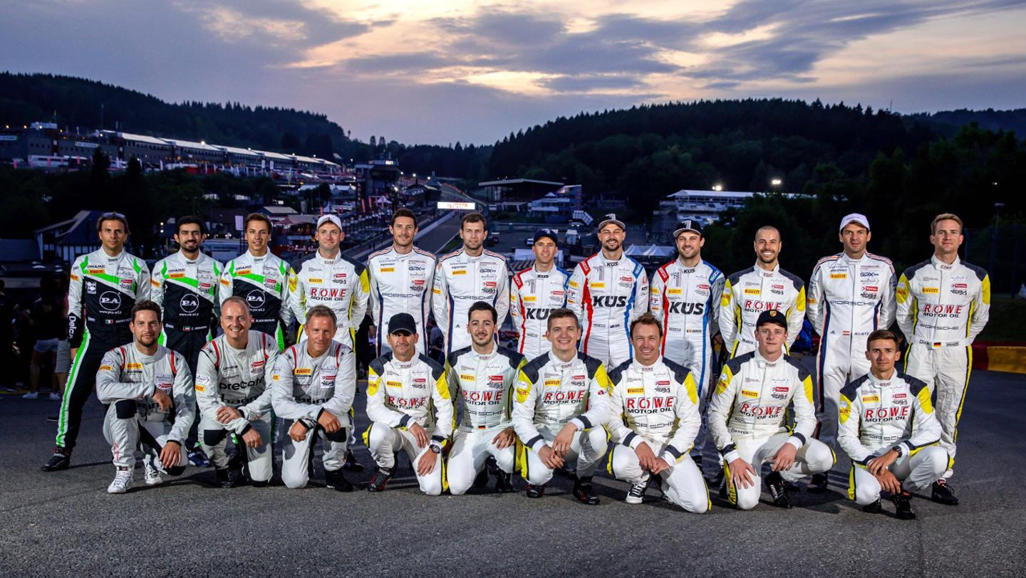 Porsche drivers, 24 Hours of Spa, 2019, Porsche AG