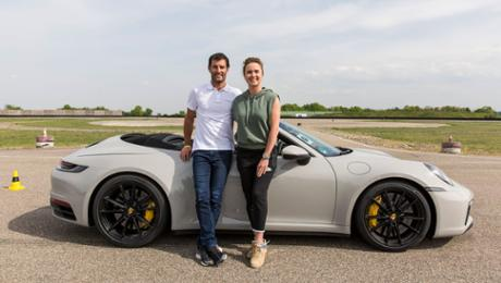 Driving master category in a 911 Cabriolet for Elina Svitolina