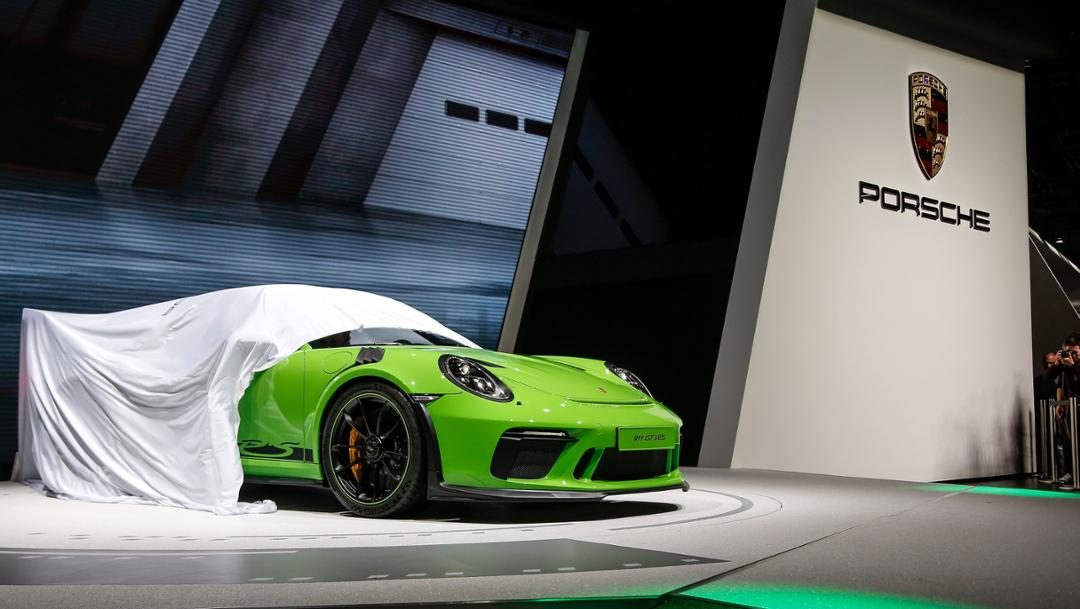 911 GT3 RS, Geneva International Motor Show, 2018, Porsche AG
