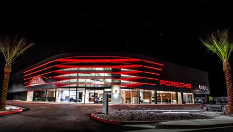 Porsche dealerships accept new corporate architecture