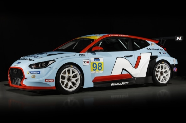 Hyundai Veloster N Race Car Makes World Debut at North American International Auto Show