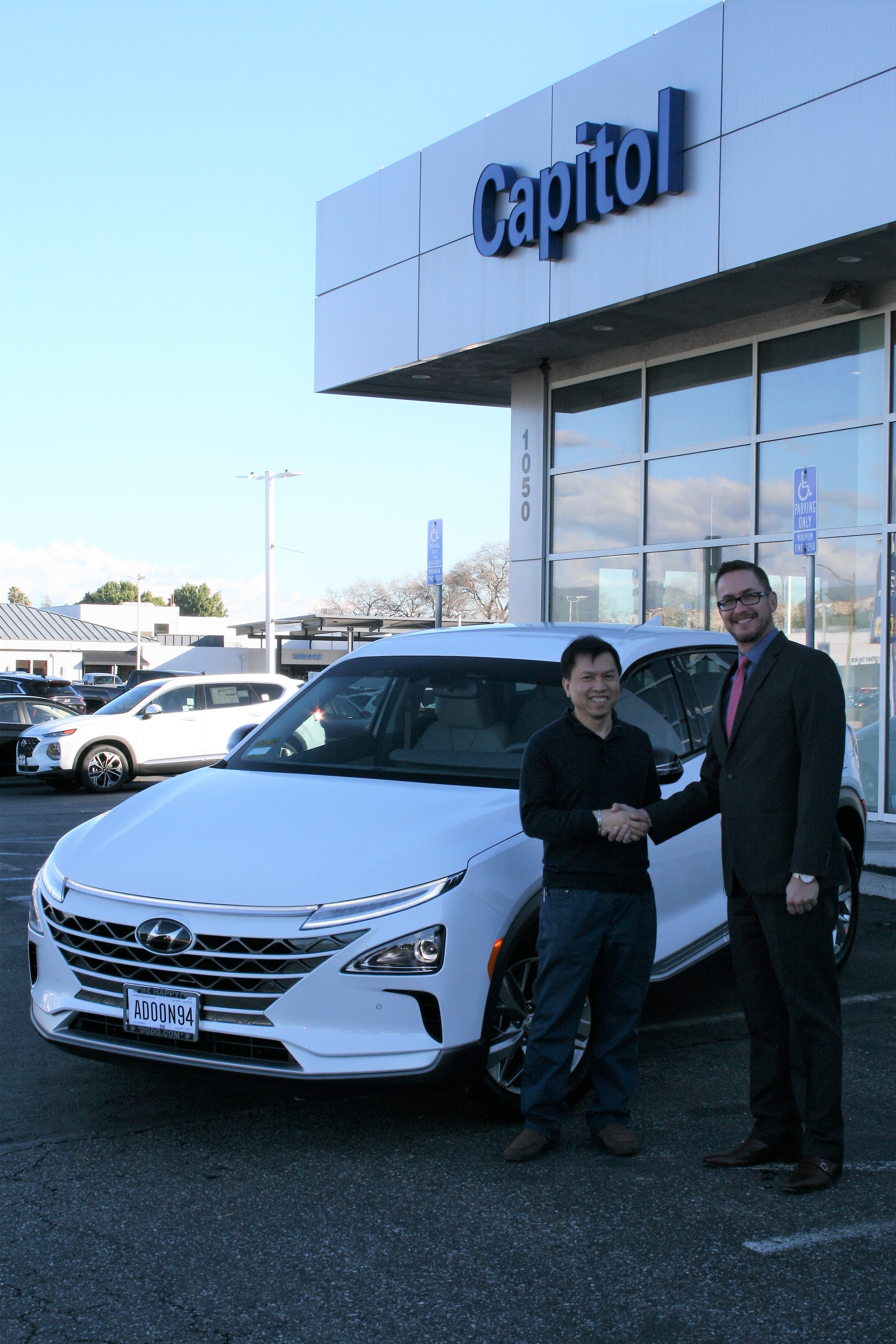 Hyundai Delivers First 2019 NEXO Fuel Cell SUV in Northern California at Capitol Hyundai, San Jose