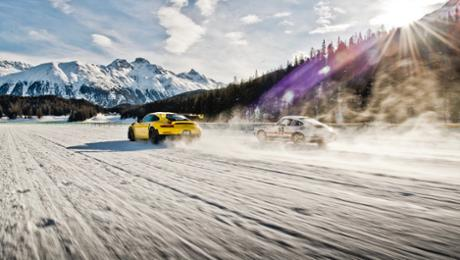 Dancing on ice with dual Porsche 911