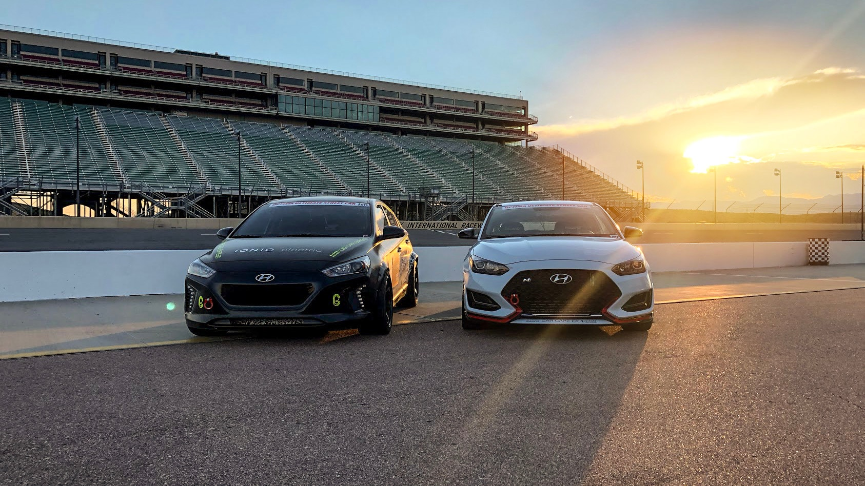 "Hyundai Ioniq Electric and Veloster N Compete in Optima's ""2018 Search for the Ultimate Street Car"""