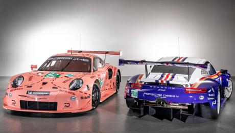 Two Porsche 911 RSR contest in ancestral clothing