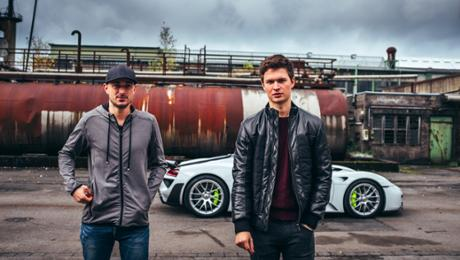 Baby Driver's Ansel Elgort in a 918 Spyder