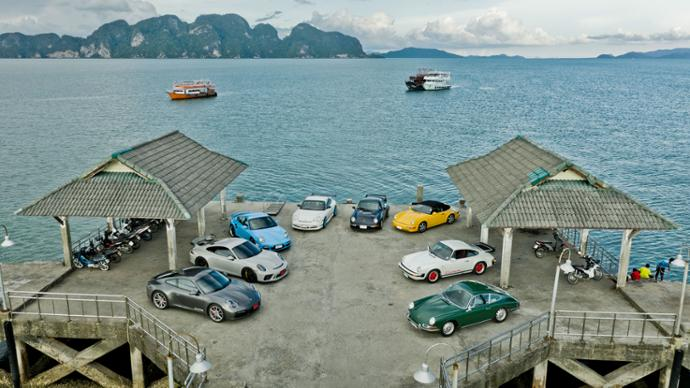 Eight generations Porsche 911, Thailand, 2019, Porsche AG